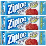Ziploc Freezer Bag, Pint, 20-Count