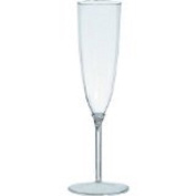 36 Clear Plastic Champagne Flutes 160mls 2 Piece Style