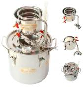 DIY 2 Gal 10 Litres Home Alcohol Whiskey Distiller Moonshine Still Stainless Steel Boiler Wine Making Kit