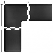 Puzzle Piece L-Series Corner Anti-Fatigue Mat Task Aid Set Colour