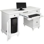 Home Styles Bermuda Pedestal Desk - White