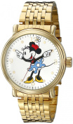 Women's Disney Mickey Mouse Shinny Vintage Articulating Watch with Alloy Case - Gold