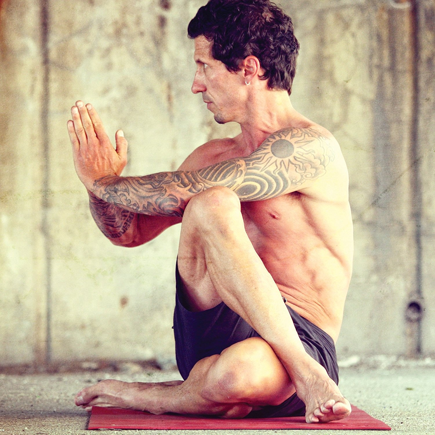 Natural Fitness Warrior Yoga Mat - Crimson. Shipping is Free