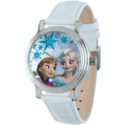 Women's Disney Frozen Anna and Elsa Vintage with Alloy Case - White