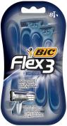 BIC Flex 3 Triple Blade Disposable Razor for Men, 8-Count