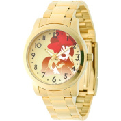 Men's Disney Minnie Mouse Casual Watch with Alloy Case - Gold