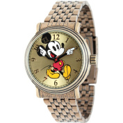 Men's Disney Mickey Mouse Antique Vintage Articulating Watch with Alloy Case - Gold