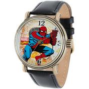 Men's Marvel Spider-Man Vintage Watch Antique Alloy Case - Black/Gold