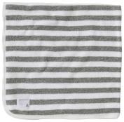 Burt's Bees Baby Organic Striped Hooded Toddler Towel - Heather Grey