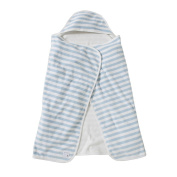 Burt's Bees Baby Organic Striped Hooded Toddler Towel - Sky Blue