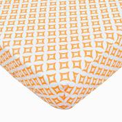 Orange Tile Fitted Crib Sheet