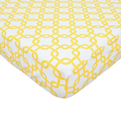 Golden Yellow Twill Fitted Crib Sheet