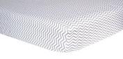 Grey Chevron Fitted Crib Sheet