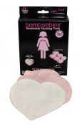 Bamboobies Regular Milk-proof Nursing Pads Value Pack - 6 Pair - Pale Pink
