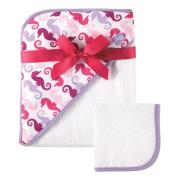 Yoga Sprout(TM) Newborn Girls' Hooded Towel - Pink/Purple