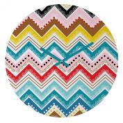 DENY Designs - Khristian A Howell - Nolita Chevrons Round Clock