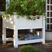 New England Arbours Cambridge Raised Planter in White