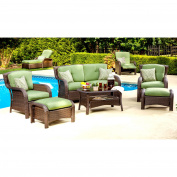 Strathmere 6-Piece Wicker Patio Conversation Furniture Set