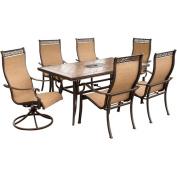 Monaco 7-Piece Sling Patio MotionstationeryDining Furniture Set