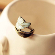 Korean Fashion . Sweet Lovely Alloy Leaf Coloured Plainted Glaze Ring New