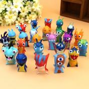 24pcs/set 4.5cm Cute Cartoon Slugterra PVC Action Figures Model Toys Dolls Christmas Gifts Boys Toys