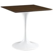 Modway Lippa Wood Dining Table, 70cm , Walnut