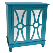 Clairemont 2 Doors Cabinet in Turquoise