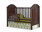 Imagio Baby Harper Toddler Guard Rail, Chocolate Mist