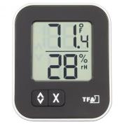 La Crosse Technology 30.5026.01 Moxx Digital Thermo-Hygrometer with Comfort Icon, Black