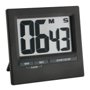 TFA Dostmann 38.2013.01 Electronic Timer and Stopwatch with Large Display Front Black Aluminium