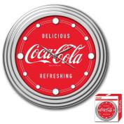 Coca-Cola Chrome Clock, 30cm