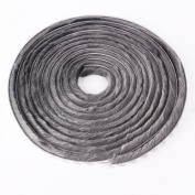 Seal Brush Pile Dust Excluder Self Adhesive Strip Tape 15mm for Door Window 5M Grey