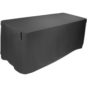 Ultimate Support USDJ-8TCB Attractive, Pleat-free, Form-fitting Table Cover - Black, 2.4m