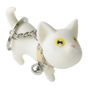 Leegoal Smile Decor, Cat Key Chain, Cute Kitten Key Ring, Bag Ornament, Gift Idea