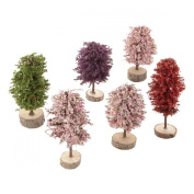 Springtime Promo Trees Set of 6 Village Accessories