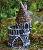 Fiddlehead Castle Fairy Home / House - 11cm Diameter X 23cm Tall