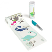 NEW Talltape Dinosaurs - Portable Roll-up Height Chart, durable PVC-free plastic, 8 designs, FREE Sharpie Mini Marker Pen - Measures babies to adults - 0–200 cms 0m - 1.8mes – a memento for life
