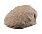 Born to Love - Baby Boy's Hat Tan and Brown Driver Cap