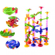 Doinshop New Educational 105PCS DIY Construction Marble Race Run Maze Balls Track Building Blocks