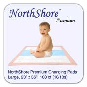 NorthShore Premium Changing Pads, Peach 1240ml, 60cm x 90cm ., Case/100