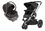 Quinny 2015 Buzz Xtra 2.0 Stroller with BONUS Maxi-Cosi Mico AP 2.0 Infant Car Seat, Black