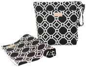 Foxy Vida Wet Bag Set - Black Lattice