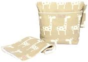 Foxy Vida Wet Bag Set - Taupe Giraffe