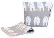 Foxy Vida Wet Bag Set - Grey Elephant