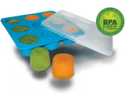 Homemade Baby Food Storage Solution, Silicone Freezer Tray with Lid. Makes 9 X 60ml Cubes. BPA Free, Non Toxic. Lifetime Guarantee.