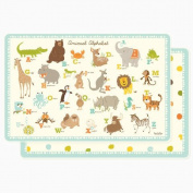 Laminated Placemat for Kids - Animal ABC Alphabet - Sea Urchin Studio