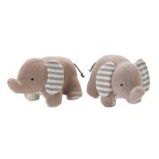 Lolli Living Bookend Friends, Elephants Knit