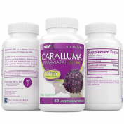 100% PURE Caralluma Fimbriata Extract 1600mg PER SERVING, Natural Appetite Suppressant and Weight Loss Supplement, 60 Count 800mg per capsule 30 Day Supply, Most Potent Dosage on the Market by ProCare Health