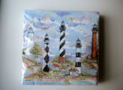 Carolina Lighthouses Cocktail Napkins