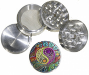 Fashion Weed Design Indian Aluminium Spice Herb Grinder Item # 110514-0033
